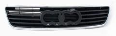Решетка радиатора для Audi A6 '94-98 черная, хром рант (открытая) (Tempest)