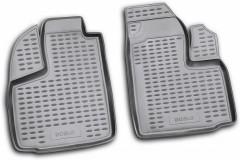Коврики в салон для Fiat Doblo '01-09 полиуретановые, черные (Novline / Element) передние