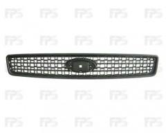 Решетка радиатора для Ford Fusion '02-06 черная (Tempest)