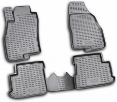 Коврики в салон для Fiat Grande Punto / Punto '05- полиуретановые, черные (Novline / Element) EXP.NLC.15.09.210
