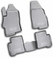 Коврики в салон для Fiat Linea '07-15 полиуретановые, черные (Novline / Element)