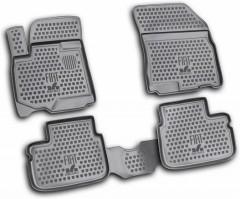 Коврики в салон для Fiat Sedici '06- полиуретановые, черные (Novline / Element)