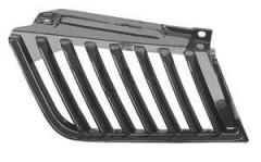 Решетка радиатора для Mitsubishi L200 '05-10 левая, черная (Tempest)