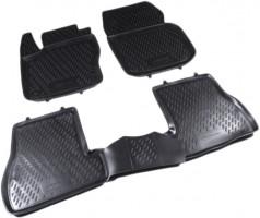 Коврики в салон для Ford Focus III '11- полиуретановые, черные (Novline / Element)