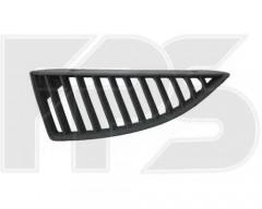 Решетка радиатора для Mitsubishi Lancer 9 '04-06 верхняя, левая, черная (Tempest)