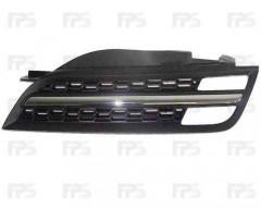 Решетка радиатора для Nissan Micra '05-10 хром/черная (Tempest)