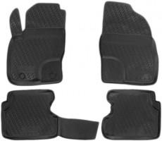 Коврики в салон для Ford Focus II '04-11 полиуретановые, черные (Novline / Element)