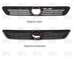 Решетка радиатора для Opel Astra G '98-09 хром/черная (Tempest)