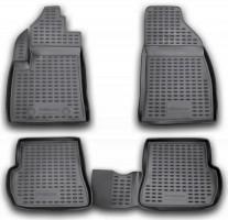 Коврики в салон для Ford Fusion '02-12, полиуретановые, черные (Novline / Element) ELEMENT1606210k