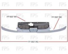 Решетка радиатора для Peugeot 206 '98-09 верхн. с полосками под фары (Tempest)