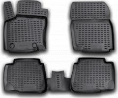 Коврики в салон для Ford Mondeo '07-14 полиуретановые, черные (Novline / Element)