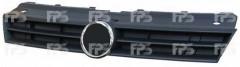 Решетка радиатора для Volkswagen Polo '09-17 черная, закрытая (Tempest)