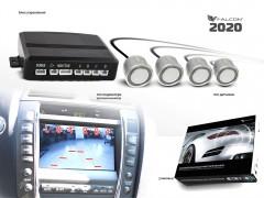 Парктроник Falkon 2020 с датчиками серебристого цвета (4 датчика)