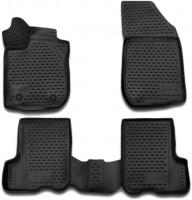 Полиуретановые коврики 3D в салон для Renault Sandero '13- (Novline / Element)