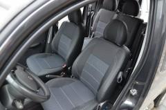 Авточехлы Premium для салона Fiat Doblo '01-09 серая строчка (MW Brothers)