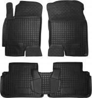 Коврики в салон для Chevrolet Evanda '03-06 резиновые, черные (AVTO-Gumm)