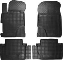 Коврики в салон для Honda Civic 4D '12-17 резиновые, черные (AVTO-Gumm)