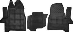 Коврики в салон для Ford Tourneo Custom '13- резиновые, черные (AVTO-Gumm) 1+2