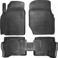 Коврики в салон для Nissan Almera Classic 06-13 резиновые, черные (AVTO-Gumm)