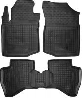 Коврики в салон для Peugeot 107 '05-14 резиновые, черные (AVTO-Gumm)
