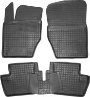 Коврики в салон для Peugeot 308 '08-13 резиновые, черные (AVTO-Gumm)