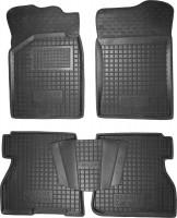 Коврики в салон для Renault Kangoo '97-09 резиновые, 4дв., черные (AVTO-Gumm)