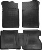 Коврики в салон для Renault Kangoo '97-09 резиновые, 3дв., черные (AVTO-Gumm)