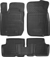Коврики в салон для Renault Duster '10-14, 4WD резиновые, черные (AVTO-Gumm), 4WD