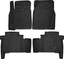 Коврики в салон для Toyota Land Cruiser 200 '07-12 резиновые, черные (AVTO-Gumm)