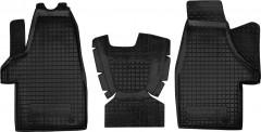Коврики в салон для Volkswagen Transporter T5 '10-15 (1+1) резиновые, черные (AVTO-Gumm)