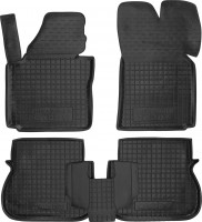 Коврики в салон для Volkswagen Caddy '04-15, 4дв., резиновые, черные (AVTO-Gumm)