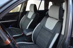 Авточехлы Leather Style для салона Suzuki Grand Vitara '06-, со светлыми вставками (MW Brothers)