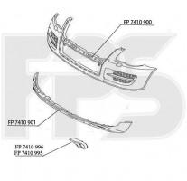 Решетка бампера для ЗАЗ Forza '11- под ПТФ, левая (FPS)