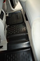 Фото 11 - Коврики в салон для Mercedes ML-Class W164 '05-11 полиуретановые, черные (Novline)