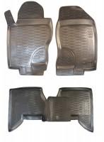 Фото 2 - Коврики в салон для Nissan Pathfinder '05-14 полиуретановые, черные (Novline) EXP.999RMR51MC