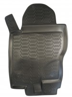 Фото 7 - Коврики в салон для Nissan Pathfinder '05-14 полиуретановые, черные (Novline) EXP.999RMR51MC