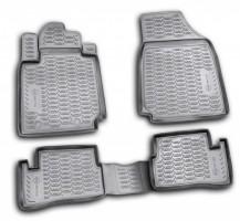 Коврики в салон для Nissan Micra '03-10 полиуретановые, черные (Novline / Element)
