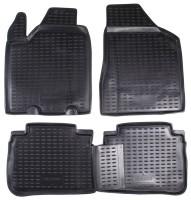 Коврики в салон для Nissan Murano '03-08 полиуретановые, черные (Novline / Element)