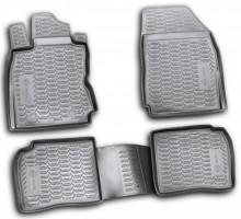 Коврики в салон для Nissan Note '06-13 полиуретановые, черные (Novline / Element) EXP.999RME11BL