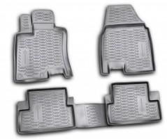 Коврики в салон для Nissan Qashqai '06-14 полиуретановые, черные (Novline / Element) EXP.999RMJ10BL