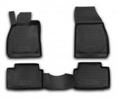 Коврики в салон для Opel Insignia '09- полиуретановые, черные (Novline / Element)