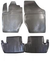 Коврики в салон для Peugeot 308 '08-13 полиуретановые, черные (Novline / Element)