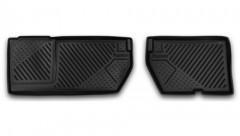 Novline Задние коврики в салон для Peugeot Partner '08- полиуретановые, черные (Novline)