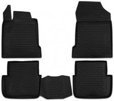 Коврики в салон для Renault Latitude '10- полиуретановые, черные (Novline / Element)