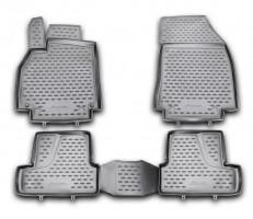Коврики в салон для Renault Megane '08-16 полиуретановые, черные (Novline / Element)