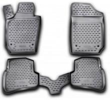 Коврики в салон для Seat Ibiza '08- полиуретановые, черные (Novline / Element)
