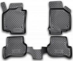 Коврики в салон для Seat Leon '05-12 полиуретановые, черные (Novline / Element)