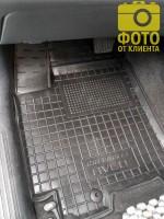 Фото 4 - Коврик в салон водительский для Chevrolet Aveo '06-11 резиновый, черный (AVTO-Gumm)