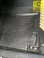 Фото 5 - Коврик в салон водительский для Chevrolet Aveo '06-11 резиновый, черный (AVTO-Gumm)