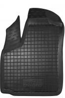 Коврик в салон водительский для Fiat Doblo '01-09 резиновый, черный (AVTO-Gumm)